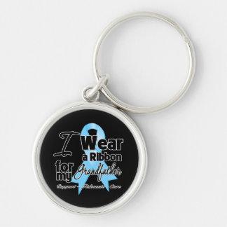 Grandfather - Prostate Cancer Ribbon Key Chain