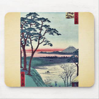 Grandfather s teahouse Meguro by Andō Hiroshige Mousepad