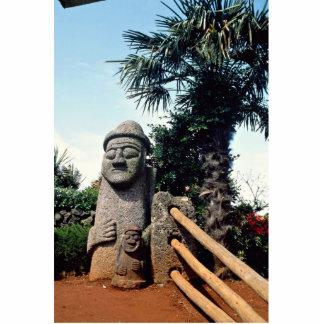 Grandfather statue, Cheju-do Island, South Korea Cutout