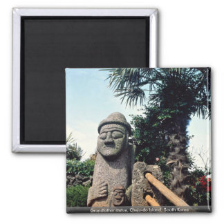 Grandfather statue, Cheju-do Island, South Korea Magnet