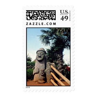 Grandfather statue, Cheju-do Island, South Korea Postage Stamps