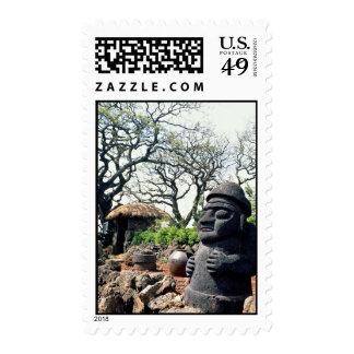 Grandfather statue guards against evil, Cheju-do I Postage Stamp