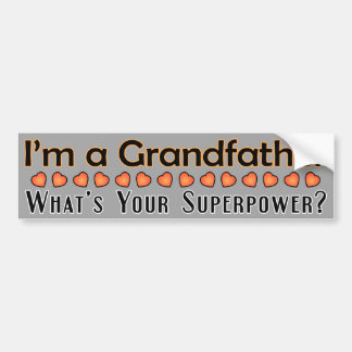 Grandfather Superpower Bumper Sticker