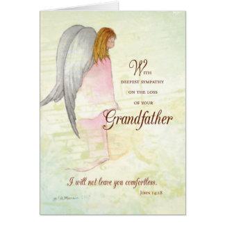 Grandfather Sympathy Angel Greeting Card