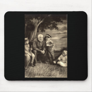 Grandfather Tells War Stories Vintage 1918 Mouse Pad
