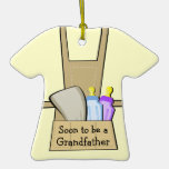 Grandfather to Be Announcement Christmas Tree Ornaments
