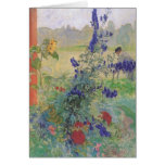 Grandfather with Flowers 1909 Greeting Card