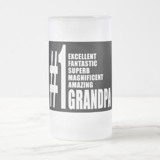 Grandfathers Birthdays : Number One Grandpa Frosted Glass Beer Mug