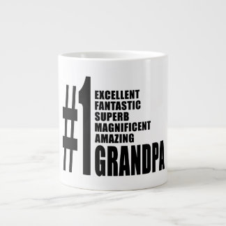 Grandfathers Birthdays : Number One Grandpa Giant Coffee Mug