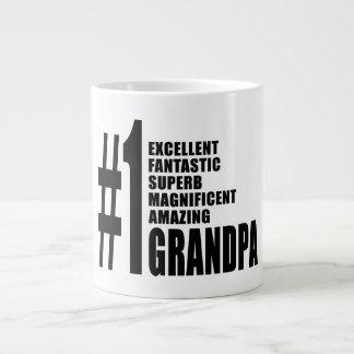 Grandfathers Birthdays : Number One Grandpa Giant Coffee Mug