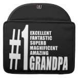 Grandfathers Birthdays : Number One Grandpa Sleeves For MacBooks