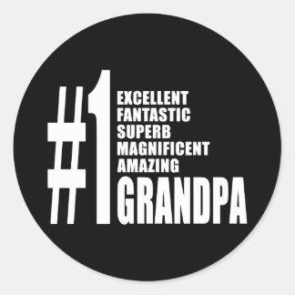 Grandfathers Birthdays : Number One Grandpa Round Sticker
