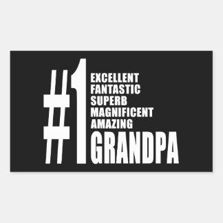 Grandfathers Birthdays : Number One Grandpa Rectangle Sticker