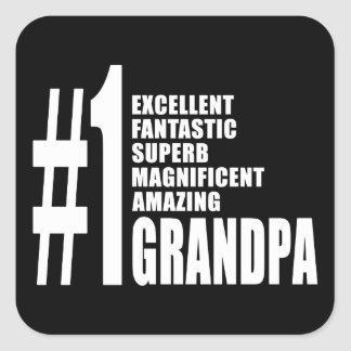 Grandfathers Birthdays : Number One Grandpa Square Stickers