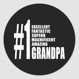Grandfathers Birthdays : Number One Grandpa Round Stickers