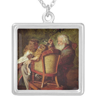 Grandfather's Jack-in-the-Box Silver Plated Necklace