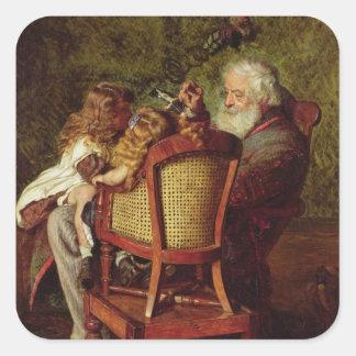 Grandfather's Jack-in-the-Box Square Sticker