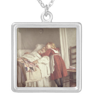 Grandfather's Little Nurse Square Pendant Necklace