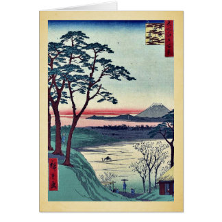 Grandfather's teahouse, Meguro by Andō, Hiroshige Greeting Card