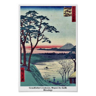Grandfather's teahouse, Meguro by Andō, Hiroshige Poster