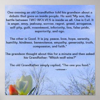 Grandfather's Wisdom Poster