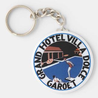 GrandHotelVillaDolceGaroet Basic Round Button Keychain
