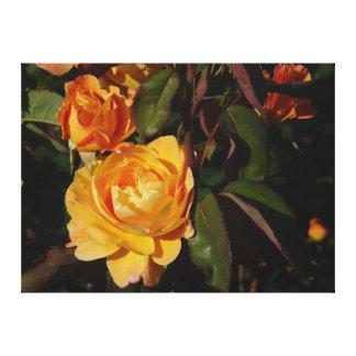 Grandiflora Rose Strike It Rich On Canvas
