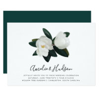 Grandiflora | White Magnolia Wedding Invitation
