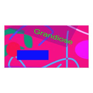 Grandiose Deep Pink Customized Photo Card