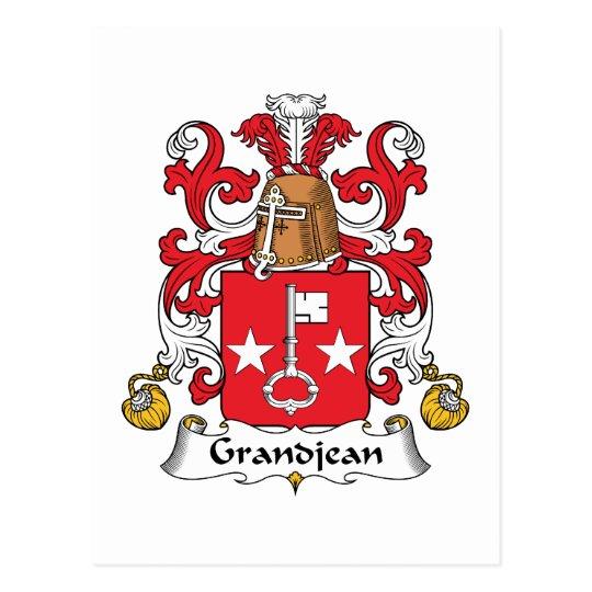 Grandjean Family Crest Postcard