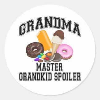 Grandkid Spoiler Grandma Classic Round Sticker