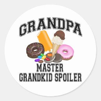 Grandkid Spoiler Grandpa Classic Round Sticker