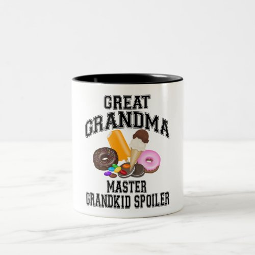 Grandkid Spoiler Great Grandma Two_Tone Coffee Mug