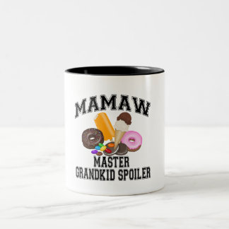 Grandkid Spoiler Mamaw Two-Tone Coffee Mug