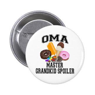 Grandkid Spoiler Oma Pinback Button