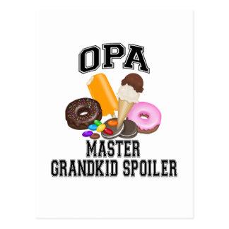 Grandkid Spoiler Opa Postcard