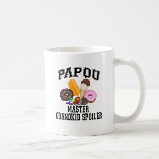 Grandkid Spoiler Papou Classic White Coffee Mug