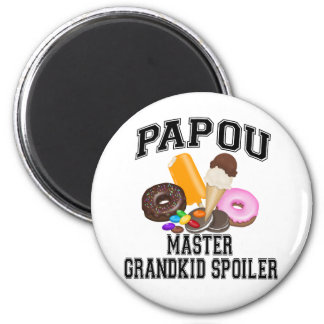 Grandkid Spoiler Papou Magnet