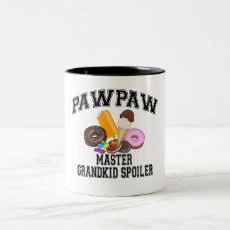 Grandkid Spoiler PawPaw Two-Tone Coffee Mug