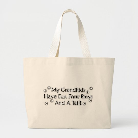 Grandkids are Animals Large Tote Bag