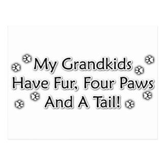 Grandkids are Animals Postcard