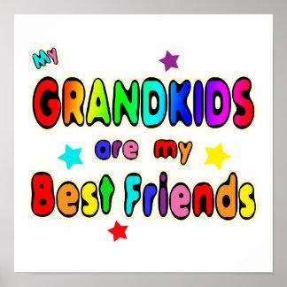 Grandkids Best Friends Poster