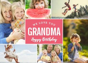grandkids photo collage birthday card