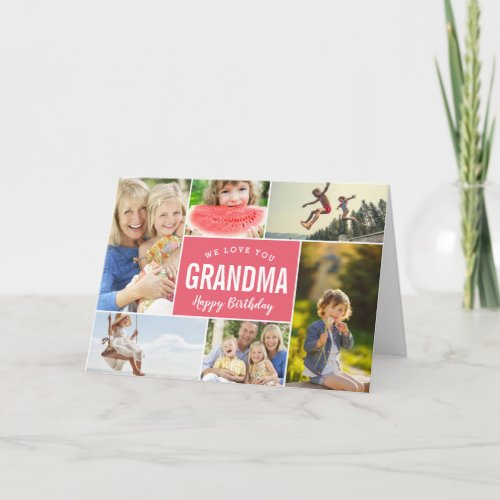 Grandkids Photo Collage Birthday Card