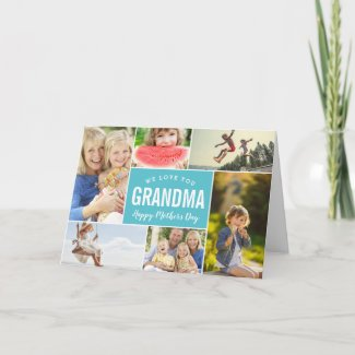 Grandkids Photo Collage Mother's Day Card