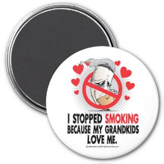 Grandkids que fuman parados imán redondo 7 cm