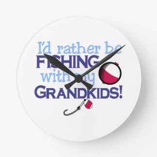 Grandkids Round Clock