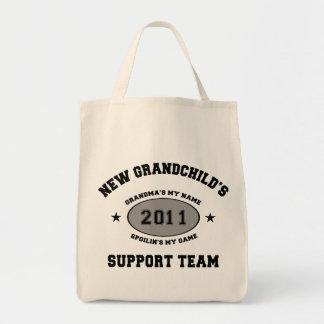 Grandkids Support Team Grandma Tote Bag