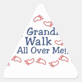 Grandkids Walk Triangle Sticker