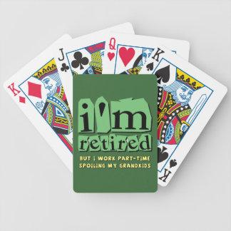 grandkids y abuelos baraja cartas de poker